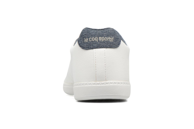 Baskets Le Coq Sportif Courtcraft S Lea/2 Tones Blanc vue droite