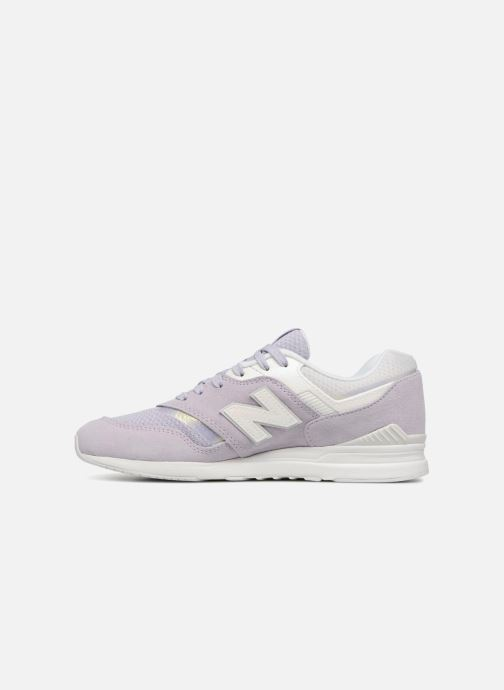 Baskets New Balance WL697 Violet vue face
