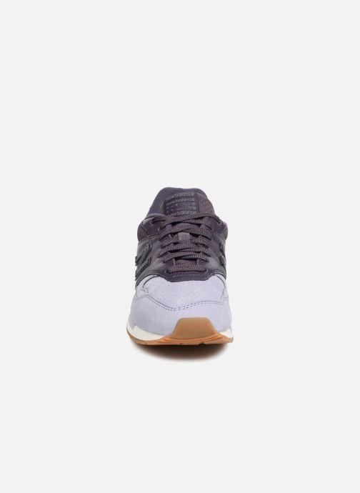 Baskets New Balance WL840 Violet vue portées chaussures