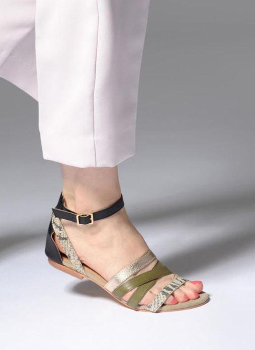 Sandales et nu-pieds Made by SARENZA Carioca Crew Sandales Plates #1 Multicolore vue bas / vue portée sac
