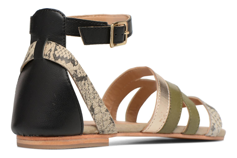 Sandales et nu-pieds Made by SARENZA Carioca Crew Sandales Plates #1 Vert vue face