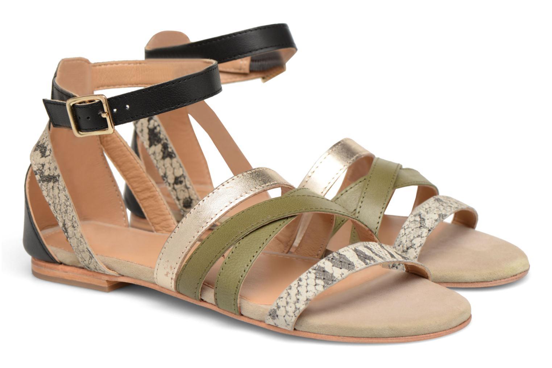 Sandales et nu-pieds Made by SARENZA Carioca Crew Sandales Plates #1 Vert vue derrière