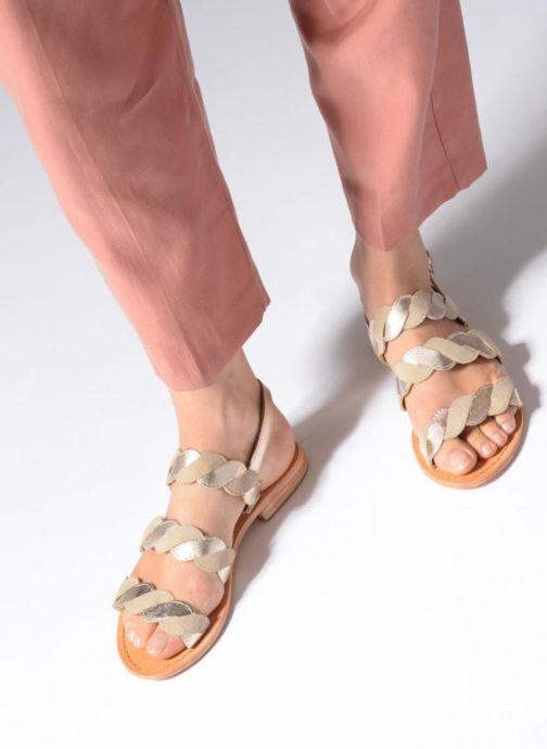 Sandales et nu-pieds Made by SARENZA Carioca Crew Sandales Plates #2 Vert vue bas / vue portée sac