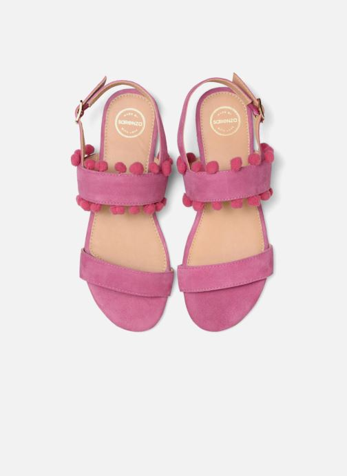 Sandales et nu-pieds Made by SARENZA Bombay Babes Sandales Plates #2 Rose vue portées chaussures