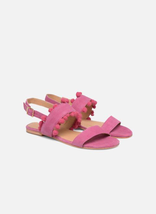 Sandales et nu-pieds Made by SARENZA Bombay Babes Sandales Plates #2 Rose vue derrière