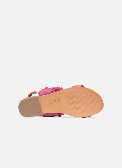 Sandales et nu-pieds Made by SARENZA Bombay Babes Sandales Plates #2 Rose vue haut