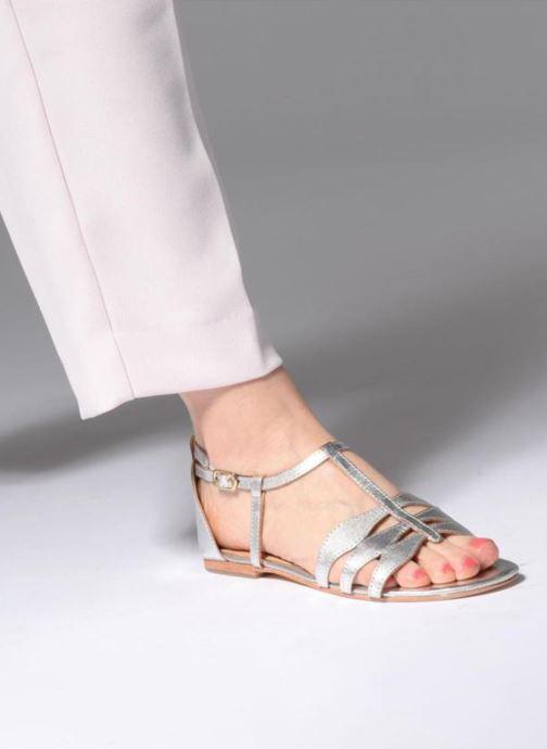 Sandalen Made by SARENZA Bombay Babes Sandales Plates #4 silber ansicht von unten / tasche getragen