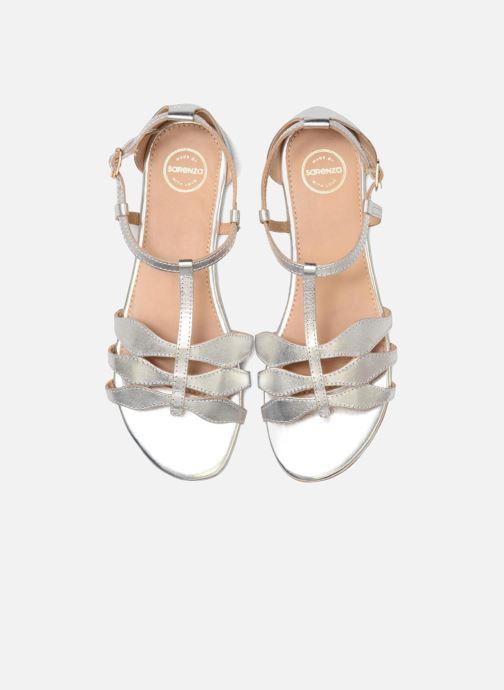 Sandalen Made by SARENZA Bombay Babes Sandales Plates #4 silber schuhe getragen