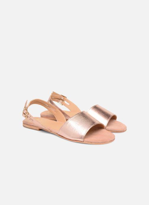 Sandales et nu-pieds Made by SARENZA Carioca Crew Sandales Plates #5 Or et bronze vue derrière