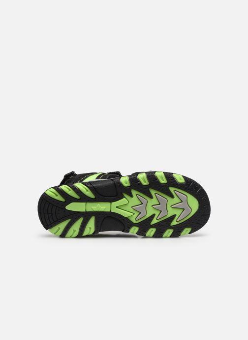 Sandales et nu-pieds Lico Luca V Noir vue haut