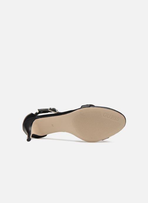 Sandales et nu-pieds Guess Narele Noir vue haut