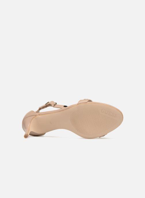 Sandales et nu-pieds Guess Narele Beige vue haut