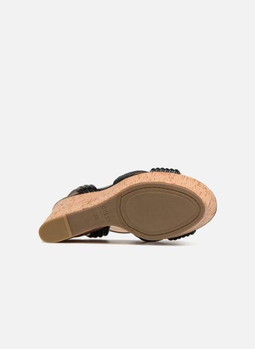 Sandales et nu-pieds Guess Gilian Noir vue haut