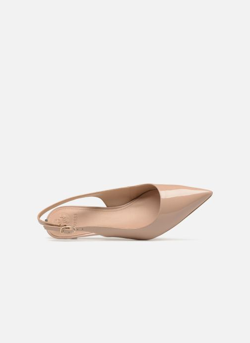 Zapatos de tacón Guess Debby Beige vista lateral izquierda