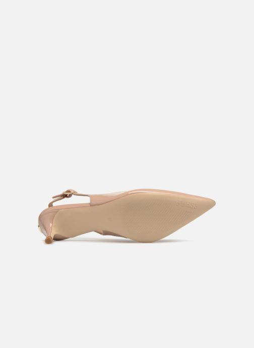 Zapatos de tacón Guess Debby Beige vista de arriba