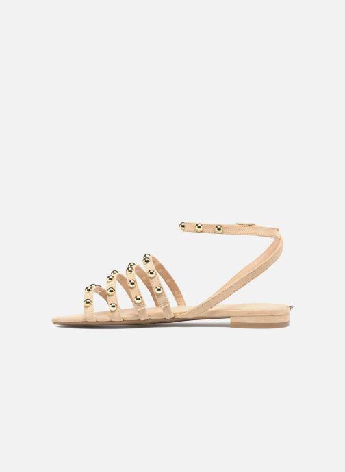 Sandales et nu-pieds Guess Roxie Beige vue face