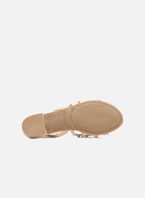 Sandales et nu-pieds Guess Roxie Beige vue haut