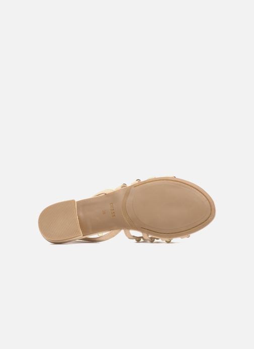 Sandali e scarpe aperte Guess Roxie Beige immagine dall'alto