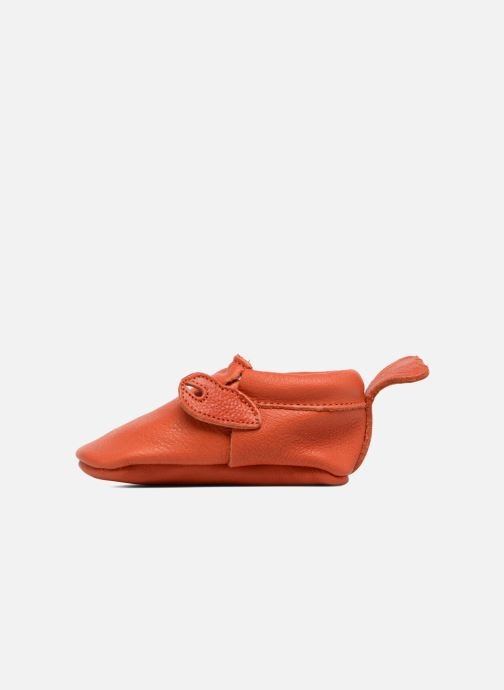 Chaussons Hippie Ya Mocassins Homard Orange vue face