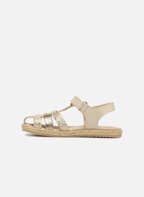 Sandales et nu-pieds Pablosky Julia Or et bronze vue face