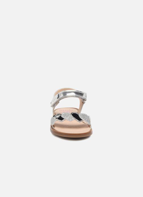 Sandales et nu-pieds Pablosky Angela Argent vue portées chaussures