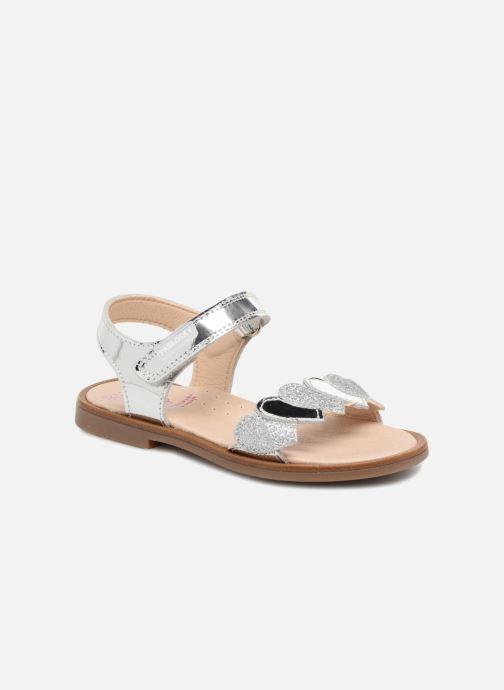 Sandales et nu-pieds Pablosky Angela Argent vue détail/paire