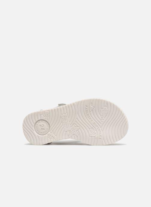 Sandales et nu-pieds Pablosky Alicia Argent vue haut