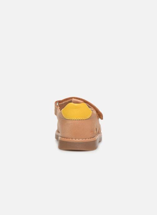 Sandales et nu-pieds Pablosky Flavio Marron vue droite