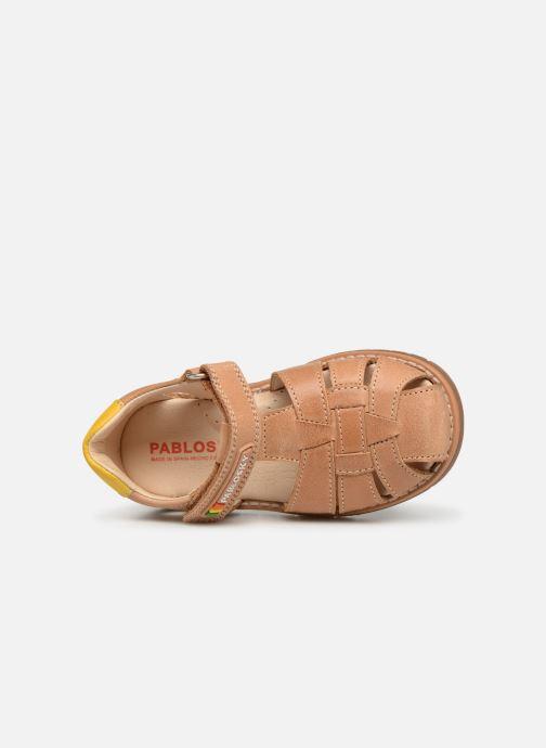 Sandales et nu-pieds Pablosky Flavio Marron vue gauche