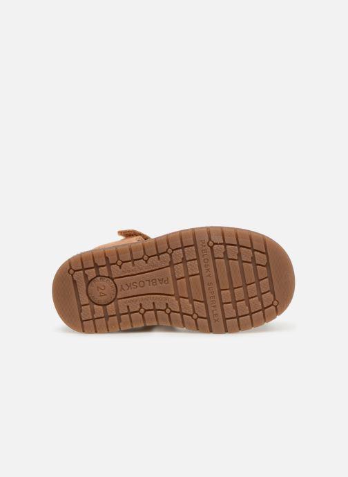 Sandales et nu-pieds Pablosky Flavio Marron vue haut