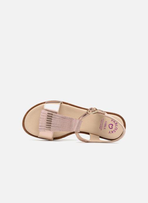 Sandales et nu-pieds Pablosky Sofia Rose vue gauche