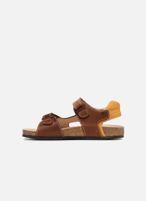 Sandales et nu-pieds Pablosky Eduardo Marron vue face