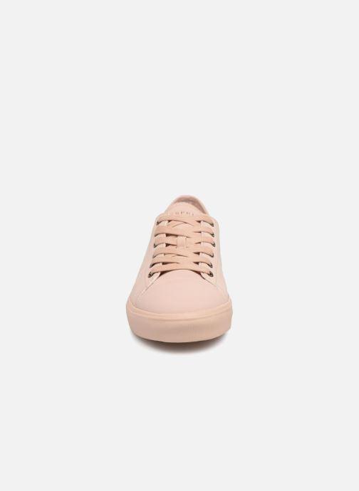 Baskets Esprit Sonet lace up Rose vue portées chaussures