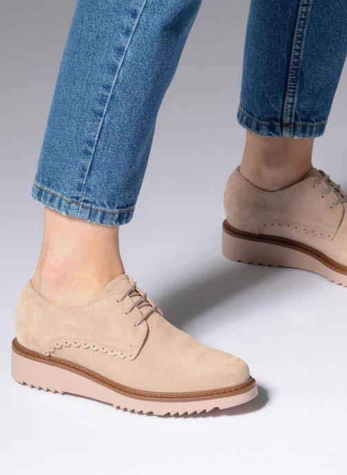 Chaussures à lacets Esprit Josepha Rose vue bas / vue portée sac