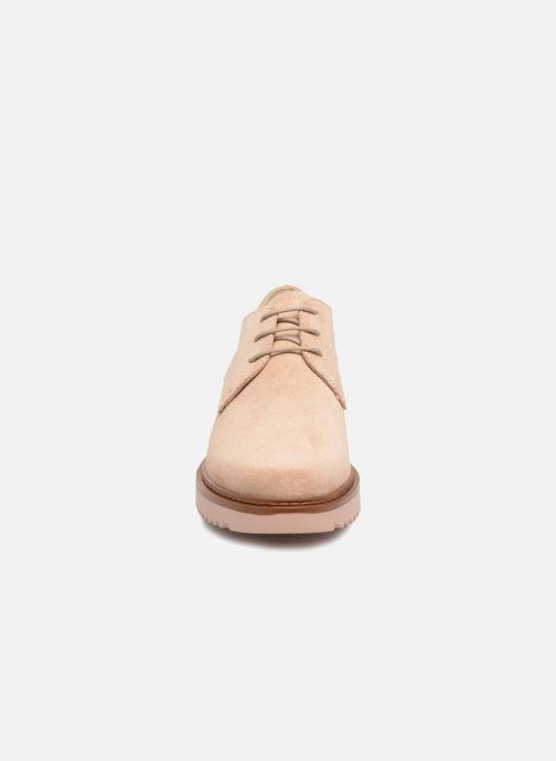 Chaussures à lacets Esprit Josepha Rose vue portées chaussures