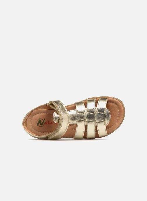 Sandals Naturino Summer Bronze and Gold view from the left