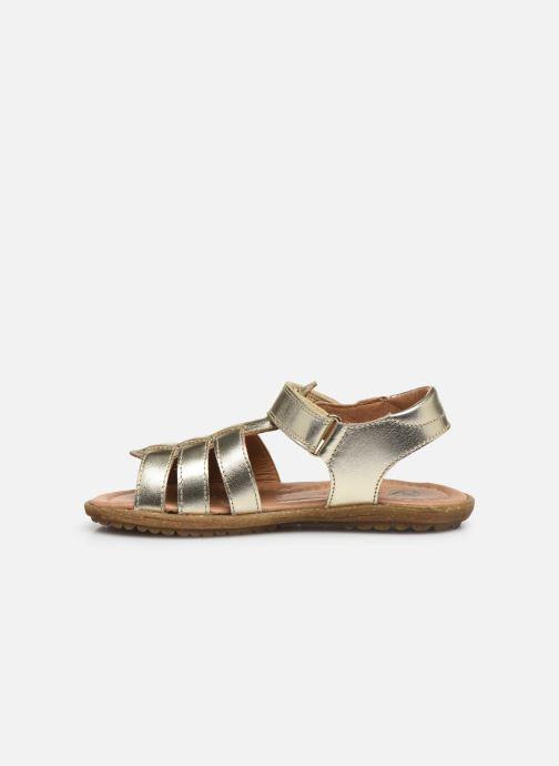 Sandales et nu-pieds Naturino Summer Or et bronze vue face