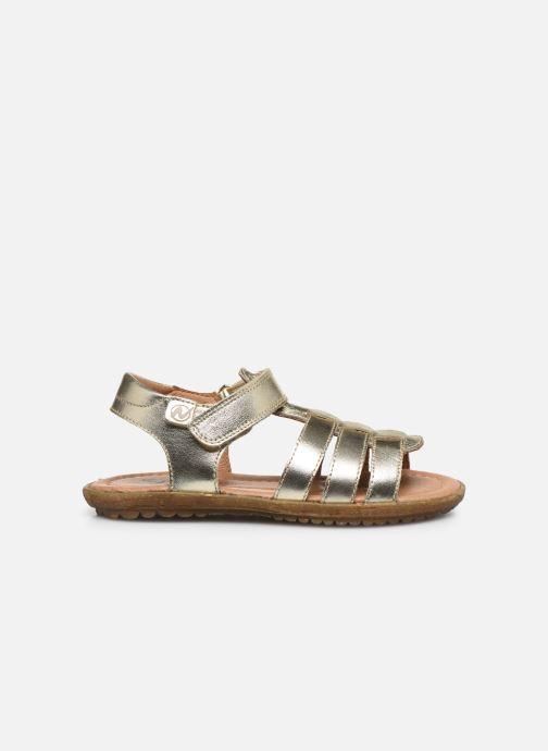 Sandalias Naturino Summer Oro y bronce vistra trasera