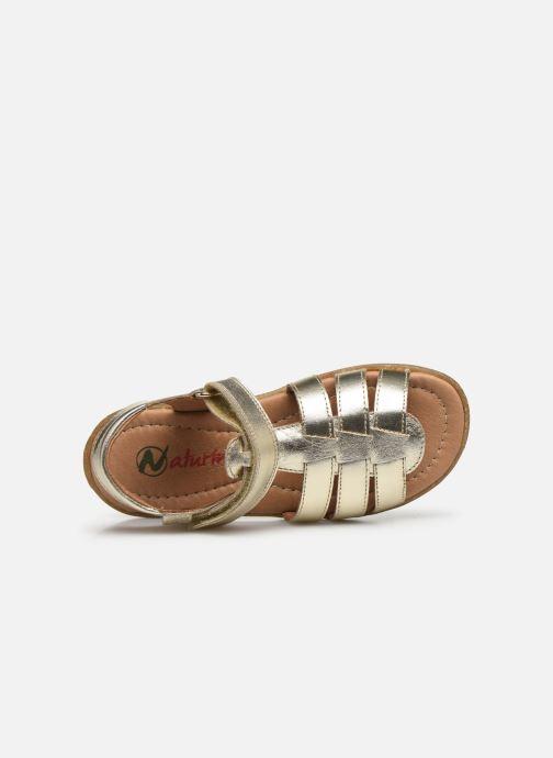 Sandales et nu-pieds Naturino Summer Or et bronze vue gauche