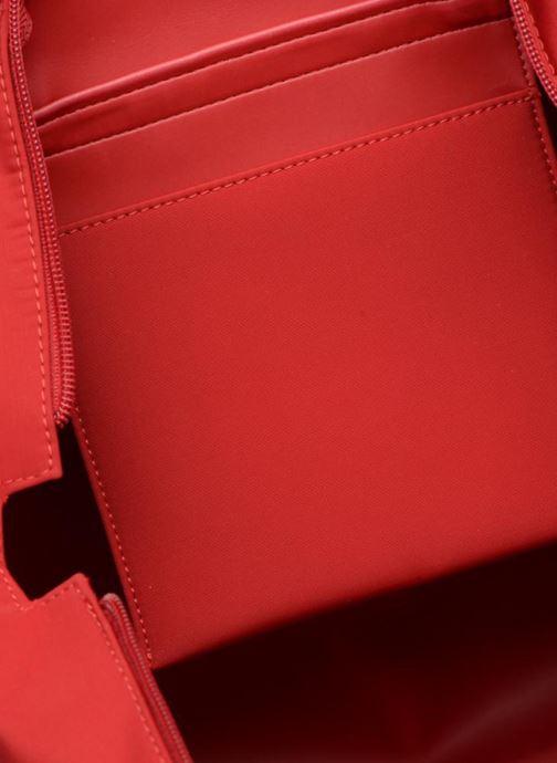 Sacs à main Le Tanneur Cabas Canvas Zippé Naomie Rouge vue derrière