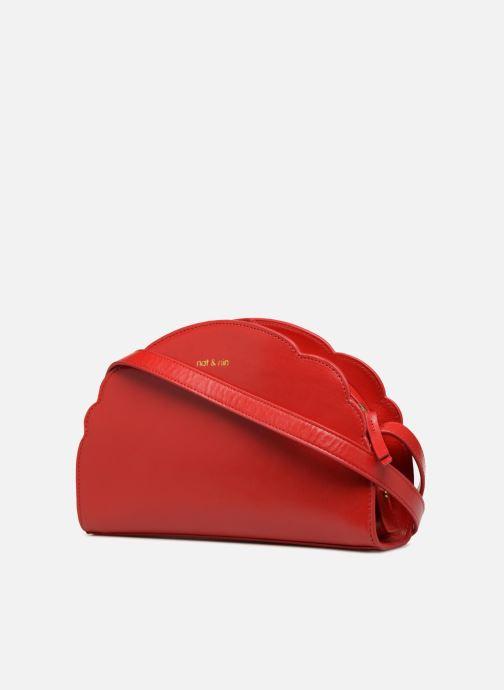 Bolsos de mano Nat & Nin Flora Rojo vista del modelo