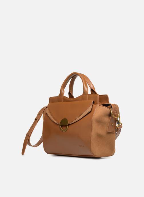 Handtaschen Nat & Nin Josefin braun schuhe getragen
