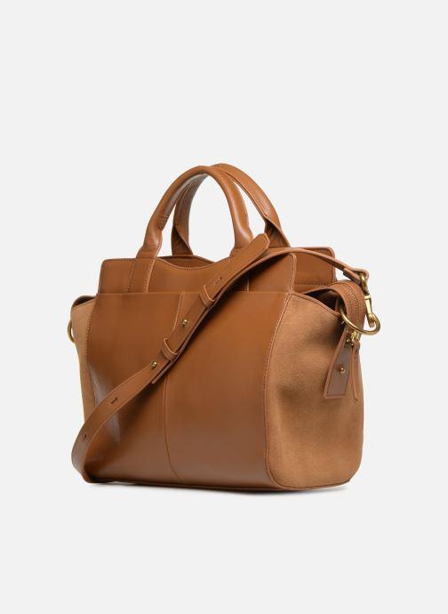 Handtaschen Nat & Nin Josefin braun ansicht von rechts