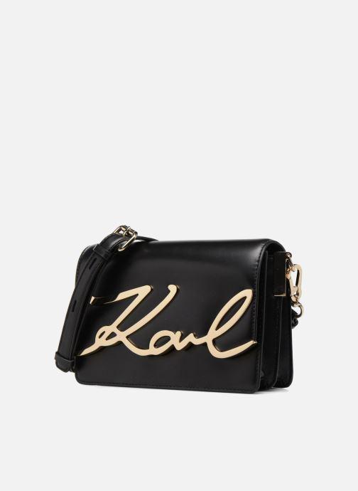 Sacs à main KARL LAGERFELD K Signature Shoulder Bag Noir vue portées chaussures
