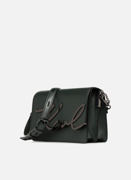Handbags KARL LAGERFELD K Signature Shoulder Bag Green model view