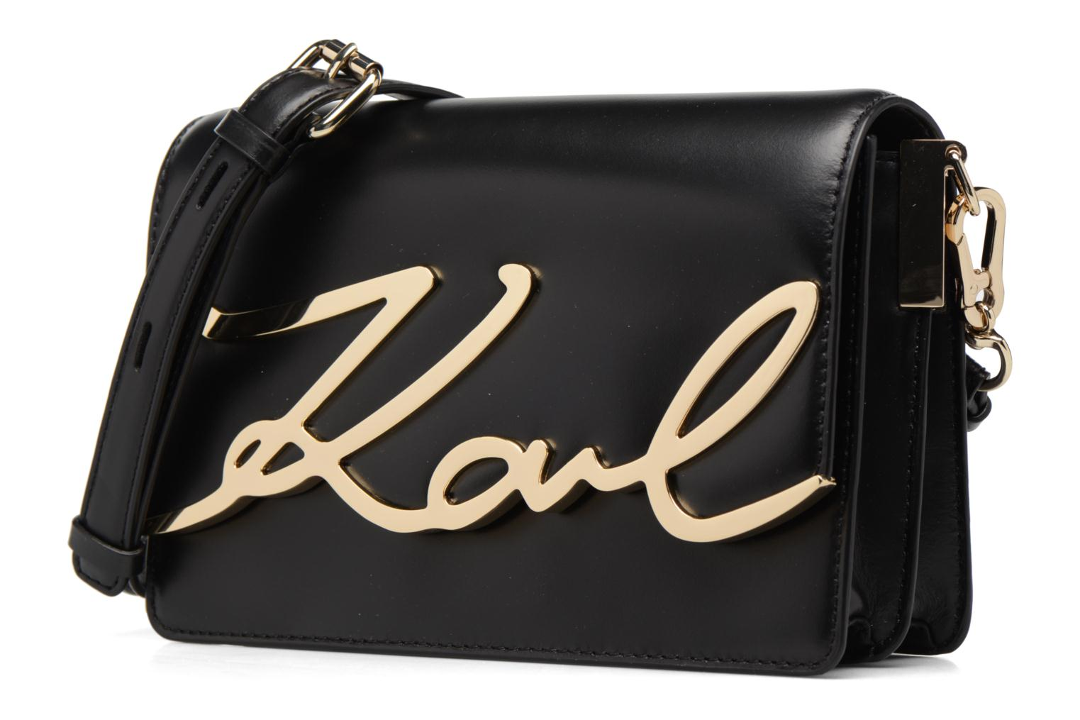 Bag K GOLD KARL Shoulder LAGERFELD BLACK A997 Signature OUUZqwI8