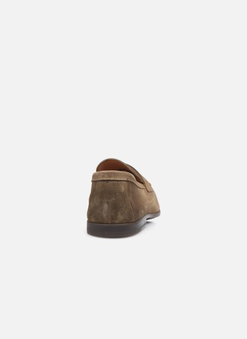 Mocasines Doucal's MIRCO Beige vista lateral derecha