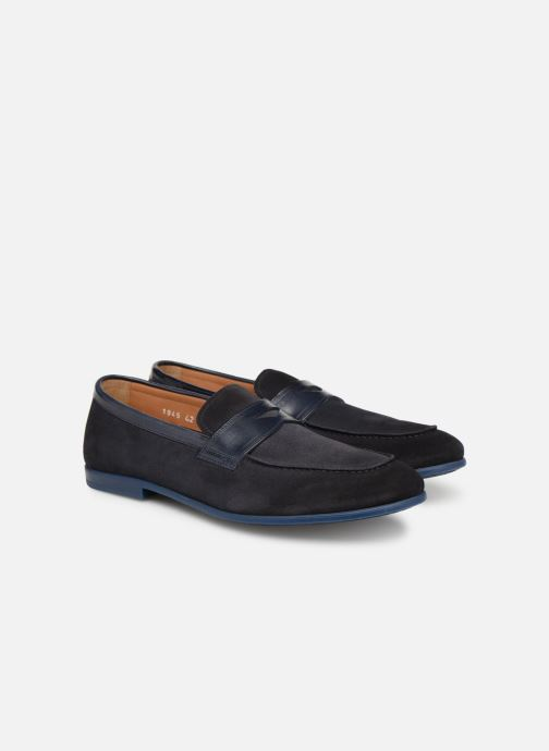 Loafers Doucal's MIRCO Blue 3/4 view