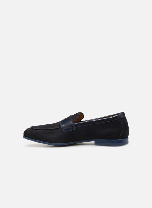 Mocassins Doucal's MIRCO Bleu vue face