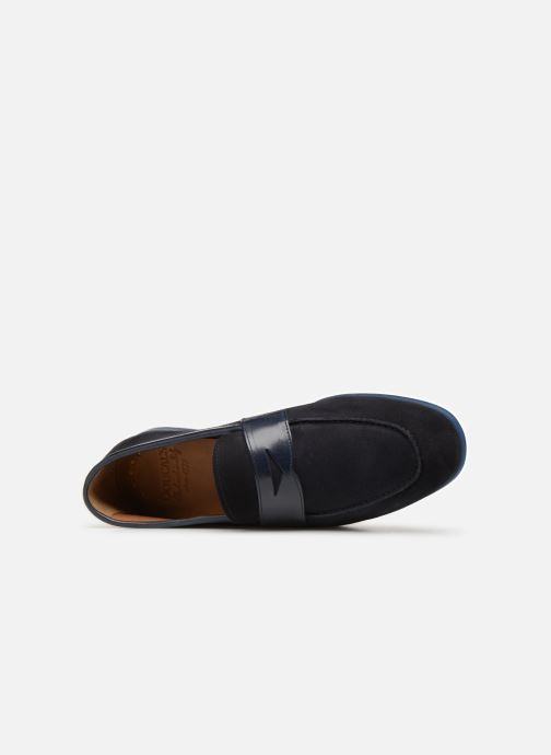 Loafers Doucal's MIRCO Blue view from the left